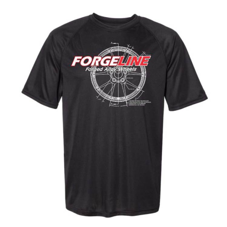Forgeline White CAD Raglan Sleeve Wicking Tee